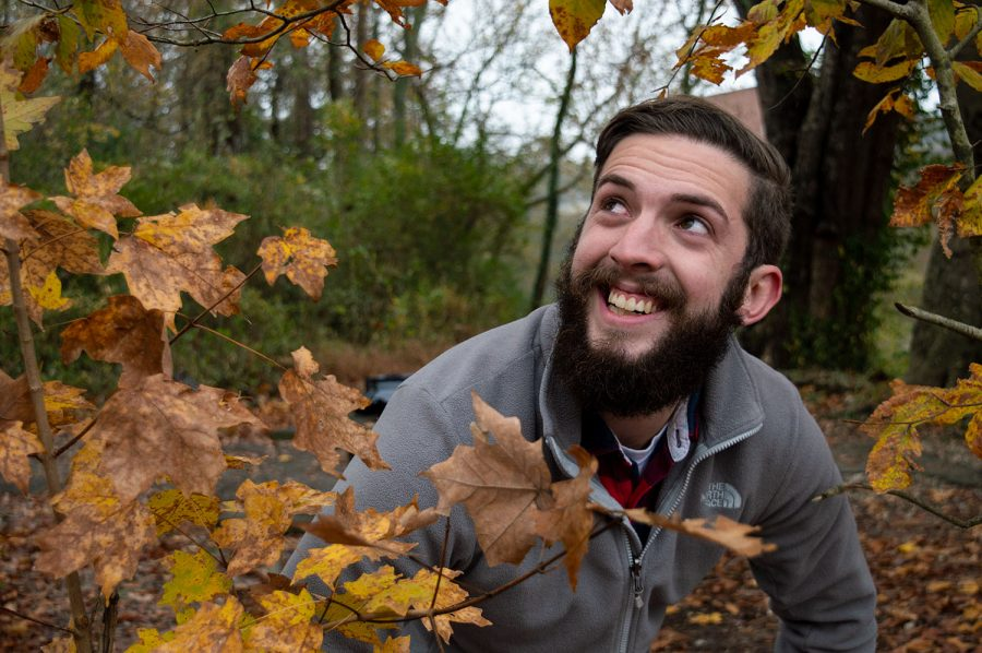 Cherry Creative writer Sam Chumbley explores Low-Hollow trail in Weldon Peete Park with a view of the Barren River.