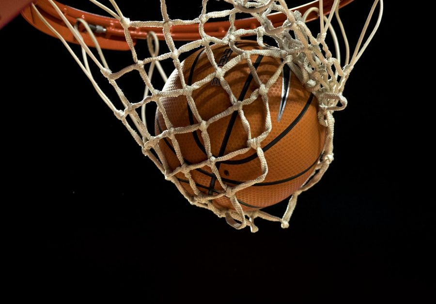 A+ball+falls+through+the+net+during+the+Lady+Toppers+82-63+win+over+Florida+Atlantic+on+Saturday+Feb.+3%2C+2018+at+E.A.+Diddle+Arena.+The+Lady+Toppers+finished+the+game+with+64.7+percent+on+the+line.