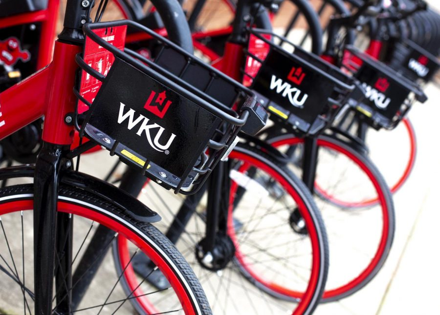 WKU+brings+VeoRide+bikes+to+campus+for+students+to+rent+and+ride.+The+rates+for+the+bikes+vary+depending+on+minute.+According+to+WKU+news%2C+pay-as-you-go+bike+rental+rates+start+at+50+cents+for+15+minutes.+There+are+also+package+deals+available+starting+at+%246.99+per+day.