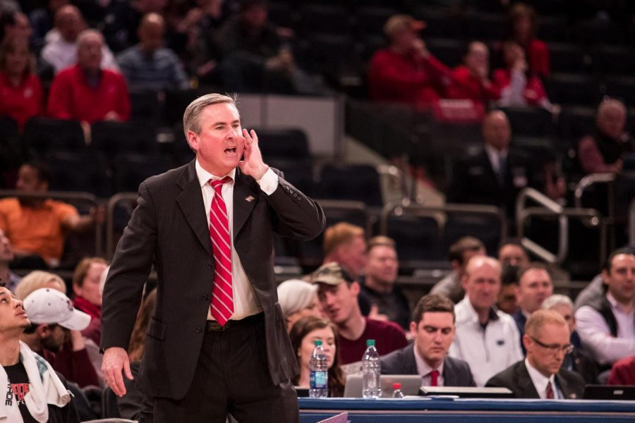WKU head coach Rick Stansbury directs his team from the bench during the semifinals of the NIT Championship in Madison Square Garden on Tuesday night.