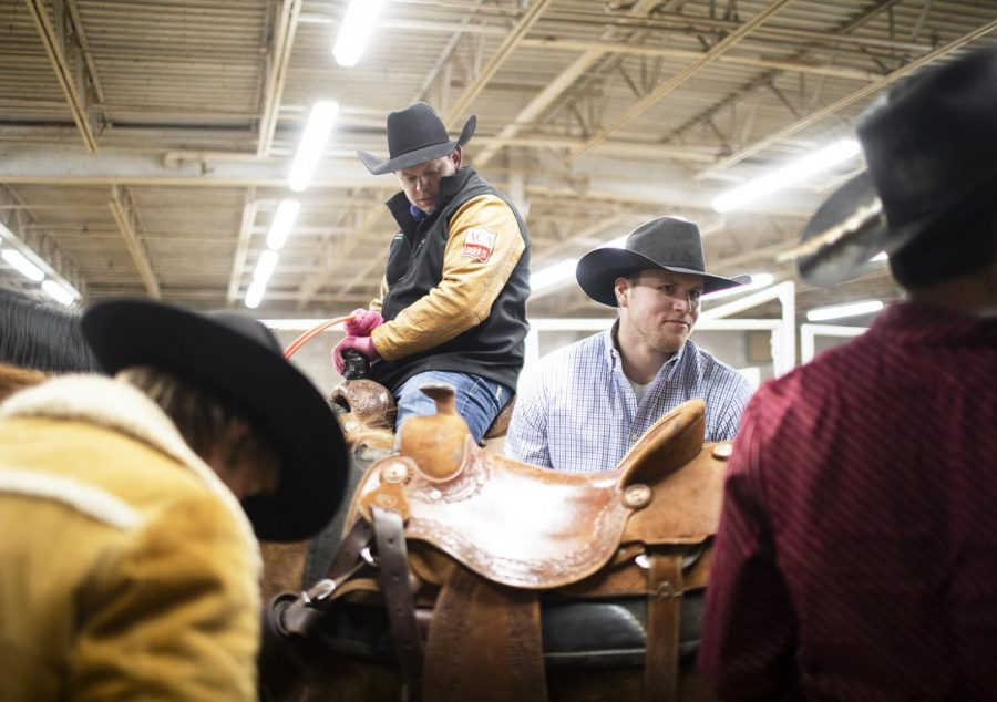 Cord Barricklow, 24, of Lebanon, Ind., is waiting amongst other competitors for the steer wrestling and calf roping for the Lone Star Rodeo Company at WKU L.D. Brown Ag Expo Center on Sat. Feb. 9, 2019. Barricklow was born into this profession and has done rodeo for his whole life.