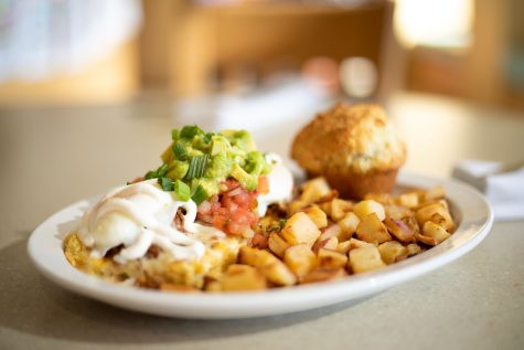 The Kalamity Katie's Border Benedict is one of Wild Eggs' most popular items on the menu. Many of the dishes are named after family members of the founders of the popular franchise.