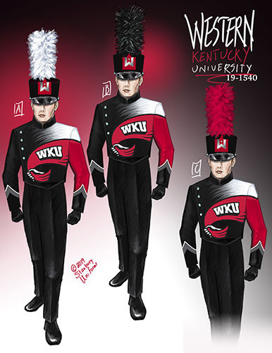 Big Red Marching Band new uniforms