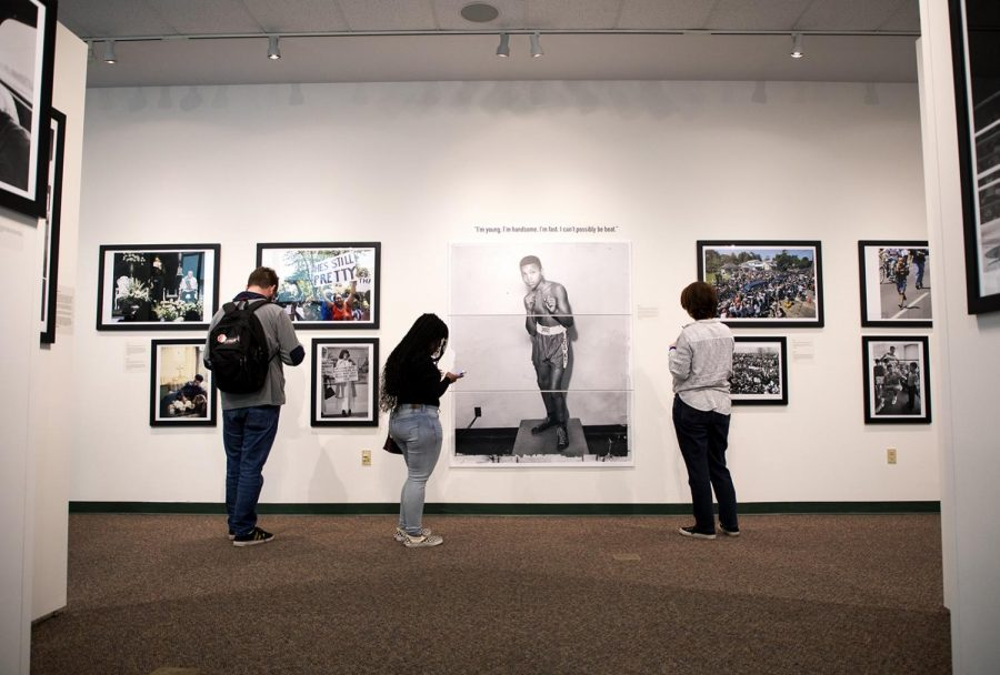 The Muhammad Ali gallery put together by photojournalism professor Tim Broekema features images of Muhammad Ali taken by Louisville Courier-Journal photographers.