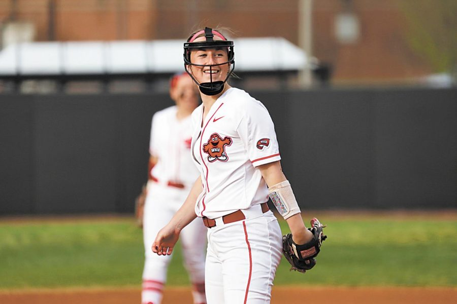 Junior pitcher Kelsey Aikey is WKU's all-time leader in saves and has accumulated an 8-6 record this season.