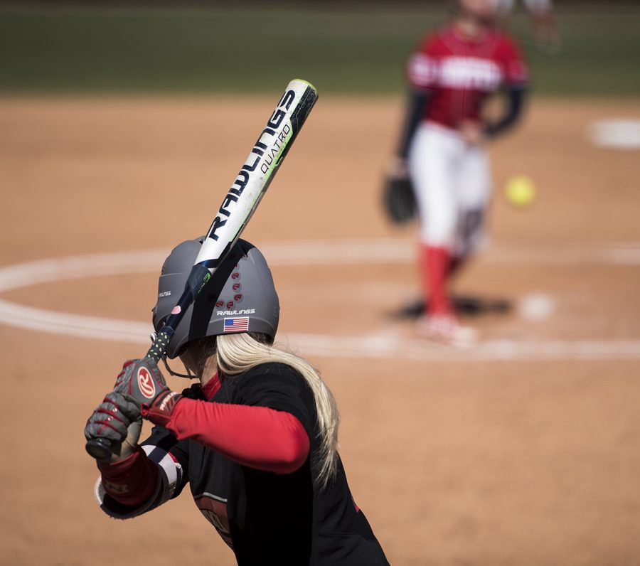Freshman+OF+Jordan+Thomas+gets+ready+to+swing+at+a+pitch+during+their+March+4+game+against+Dayton.+Thomas+was+a+7-year+varsity+player+before+coming+WKU.