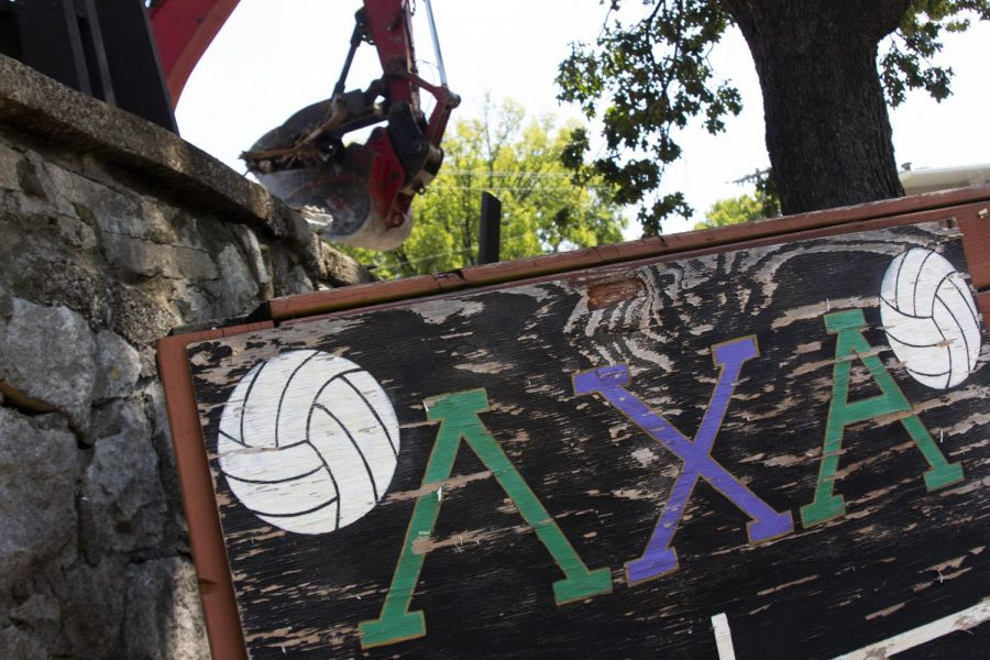 Lambda+Chi+Alpha%E2%80%99s+volleyball+scoreboard+was+among+few+things+left+in+the+wake+of+the+destruction+of+their+fraternity+house+on+September+4%2C+2019.