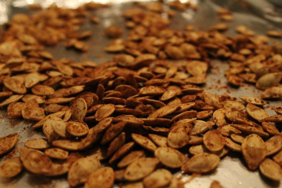 Baked pumpkin seeds.