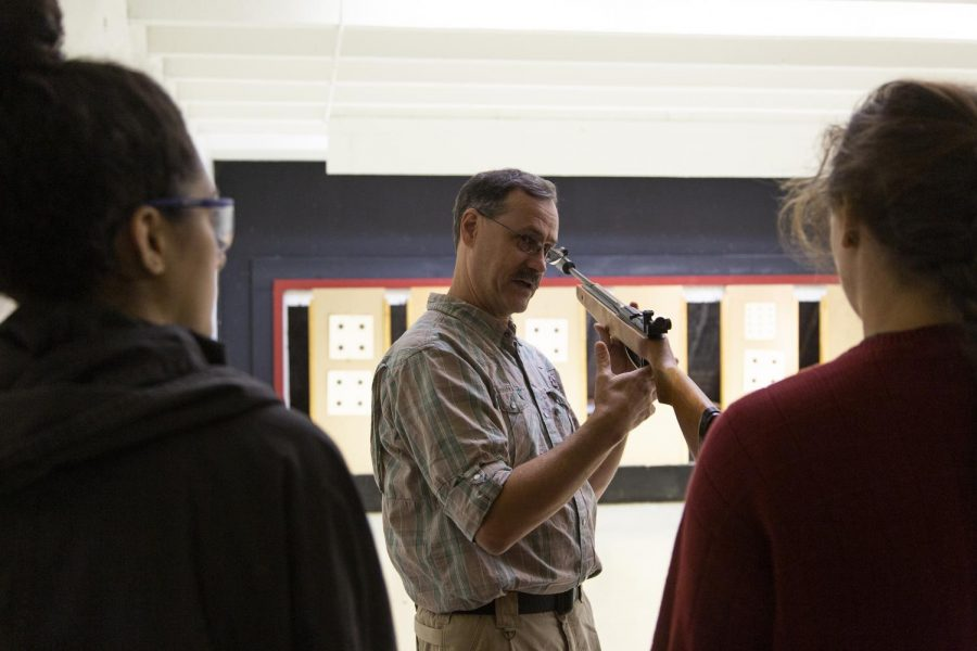 School+of+Kinesiology%2C+Recreation+%26amp%3B+Sport+faculty+James+Honaker+teaches+a+bi-term+gun+range+and+safety+class%2C+Monday+October+7th+in+the+basement+of+PS1.