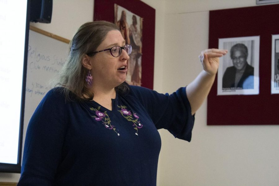 Dr. Audrey Anton discussed the origins of evil to her class, Why Are Bad People Bad, on Thursday October 31 2019.