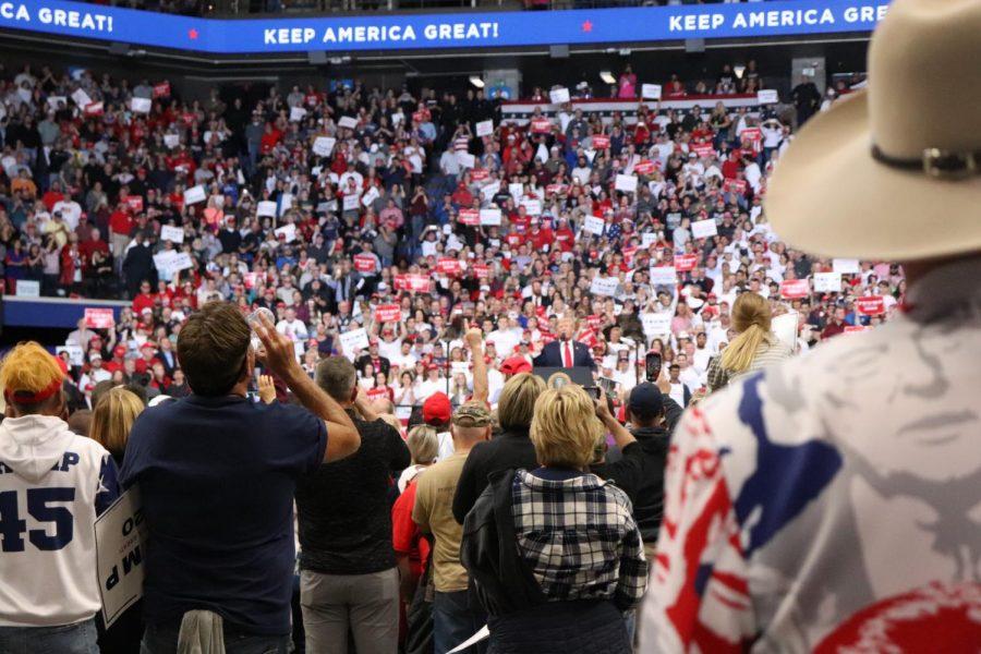 President+Donald+Trump+enters+Rupp+Arena+in+Lexington+for+a+rally+to+endorse+Gov.+Matt+Bevin.%C2%A0