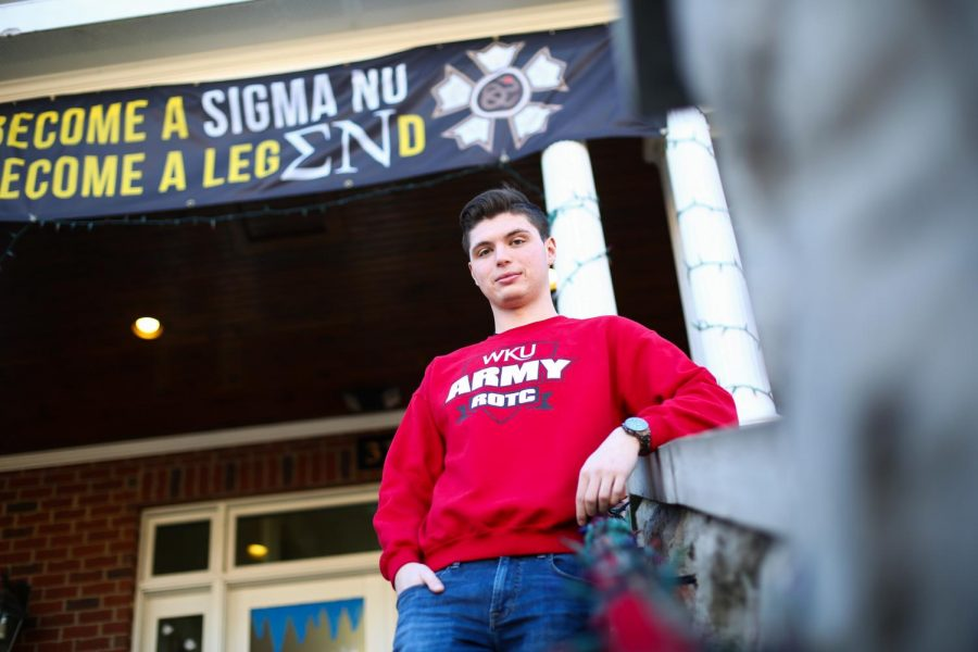 Sigma Nu scholarship chairman and ROTC cadet Matthew Legendre of Elizabethtown finds time to balance his school, ROTC and fraternity responsibilities.