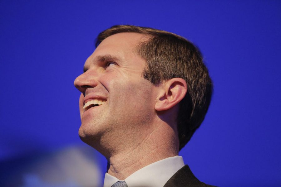 Kentucky Attorney General Andy Beshear declares victory following a close and highly contested race against incumbent Gov. Matt Bevin on Tuesday, Nov. 5, 2019. However, Bevin has still refused to concede.