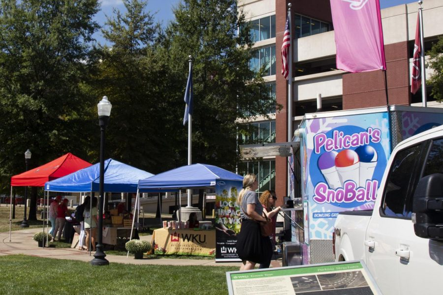 The WKU restaurant group and office of sustainability hosted the market on avenue on September 18, 2019.