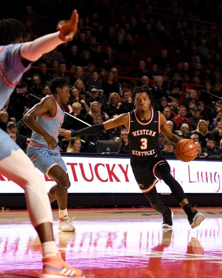 WKU+guard+Jordan+Rawls+%283%29+takes+the+ball+inside+during+the+basketball+game+between+La.+Tech+and+WKU+on+Feb+6%2C+2020+in+Diddle+Arena.+WKU+won+65-54.