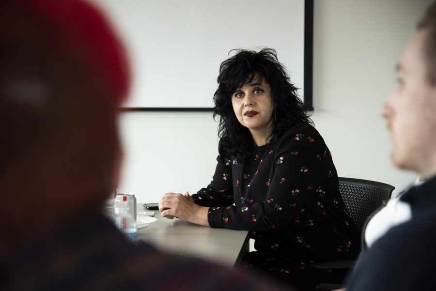 Elanie Steyn, area head for Journalism, Gaylord College of Journalism and Mass Communication at the University of Oklahoma and candidate for the position director of the WKU School of Media, attended a luncheon with SoM students before her presentation to the school on Thursday, Feb. 21.