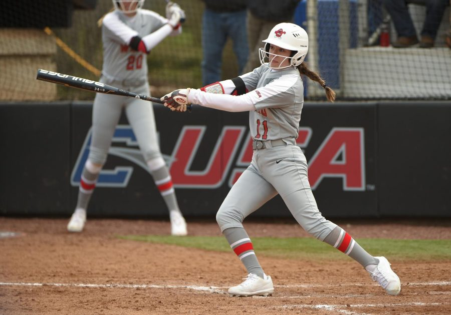 Western+Kentucky+Hilltoppers+outfielder+Brylee+Hage+%2811%29+Green+Bay+vs+WKU+February+23%2C+2020+at+WKU+Softball+Complex