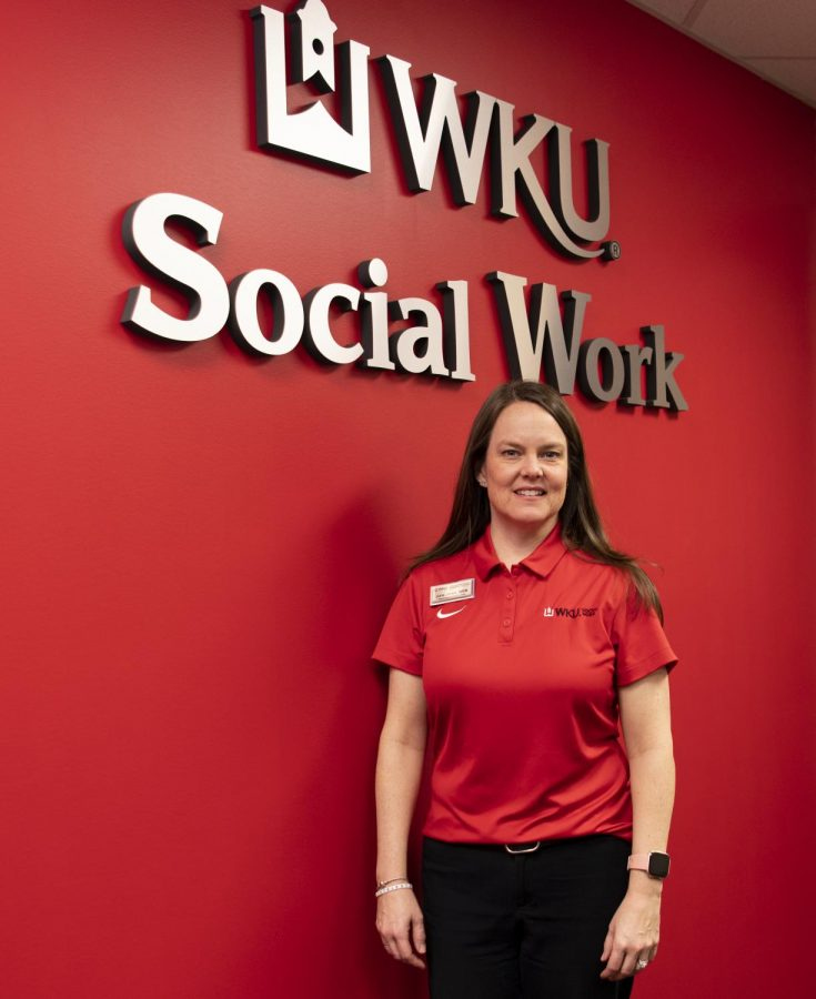 Julia Jones is the Child Welfare Coordinator in the Master of Social Work Program at WKU. She has been working in the program for a year and half and spent 19 years working in child services.