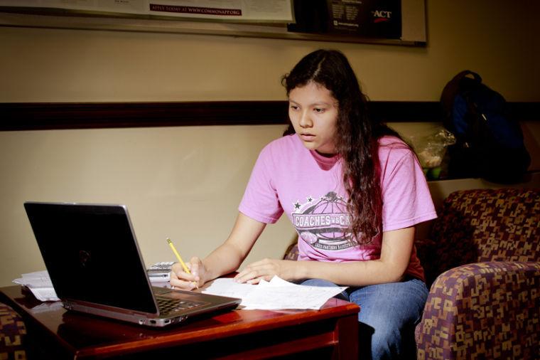 Carrollton Gatton senior Linda Cruz has four tests, a presentation and a paper all due on