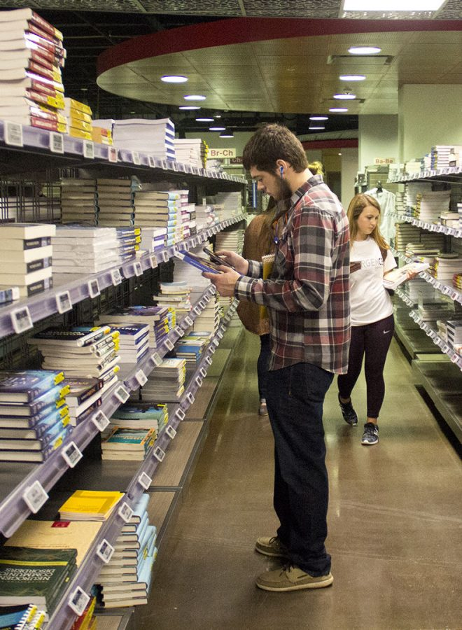 As the new year arrives and the semester begins at WKU students gather at the WKU Bookstore to get their books and school supplies. Johnathan Partlow Jr., a junior at WKU, finds books for his spring classes.