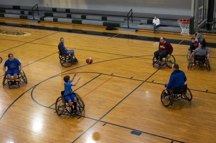 Lafe+Ives+shoots+a+midrange+shot+during+a+game+of+open+wheelchair+basketball+on+January+27%2C+2020+at+the+Kummer+Little+Recreation+Center+in+Bowling+Green%2C+KY.+Open+wheelchair+basketball+has+been+an+ongoing+program+at+Kummer+Little+for+the+last+3+years%2C+largely+in+part+to+their+Special+Populations+Instructor%2C+Cameron+Levis.+Levis+hopes+to+change+the+stigma+surrounding+people+with+disabilities.+%E2%80%9CObviously+we+want+to+impact+the+individuals+with+a+disability+and+give+them+these+opportunities.+But+ultimately+what+I+hope+is+to+change+views+on+what+disability+means.%E2%80%9D%2C+said+Levis.
