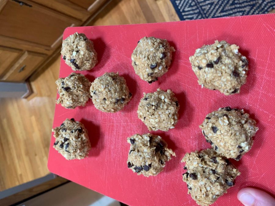 After refrigerating for an hour, these no-bake cookie dough balls will turn into a sweet snack!