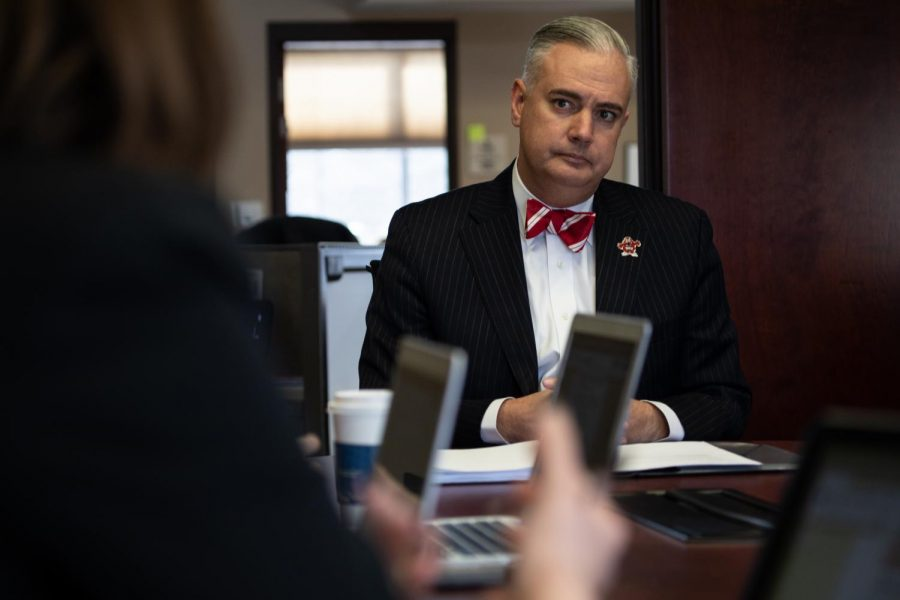 WKU President Timothy Caboni discussed several issues at the semesterly Herald editorial board meeting on Wednesday,Jan. 22, 2020.