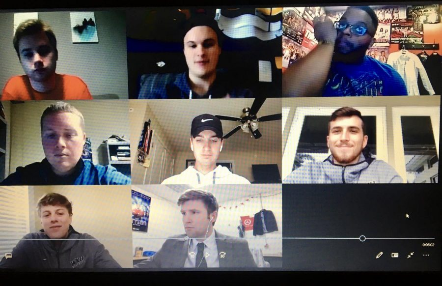 The WKU baseball team participates in a Zoom conference call with local media on Thursday, April 16 to discuss how the coronavirus pandemic has impacted the Hilltopper baseball program.