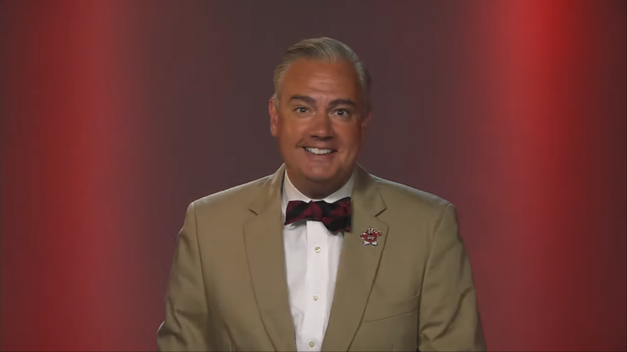 WKU President Timothy Caboni smiles in a screenshot from his