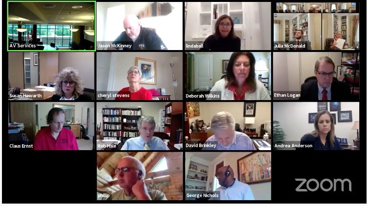 Board of Regents meet via Zoom on May 15, 2020.