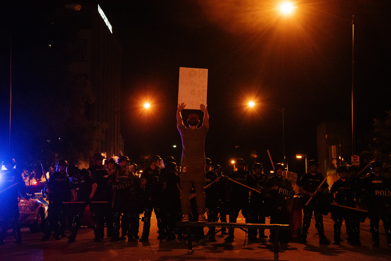 Protestors+gathered+for+a+second+night+in+downtown+Louisville+on+the+evening+of+May+29.+The+protests+were+spurred+by+the+death+of+Breonna+Taylor+at+the+hands+of+police%2C+and+lasted+into+the+night+and+early+morning.+Phrases+such+as+%E2%80%9Cno+justice%2C+no+peace%E2%80%9D+were+shouted+by+crowd+members.+Vandals+broke+windows+of+buildings%2C+police+cars%2C+and+spray+painted+on+walls+across+downtown.+The+police+used+tear+gas+and+rubber+bullets+on+protestors.+Further+protests+are+planned+for+the+evening+of+Saturday%2C+May+30.