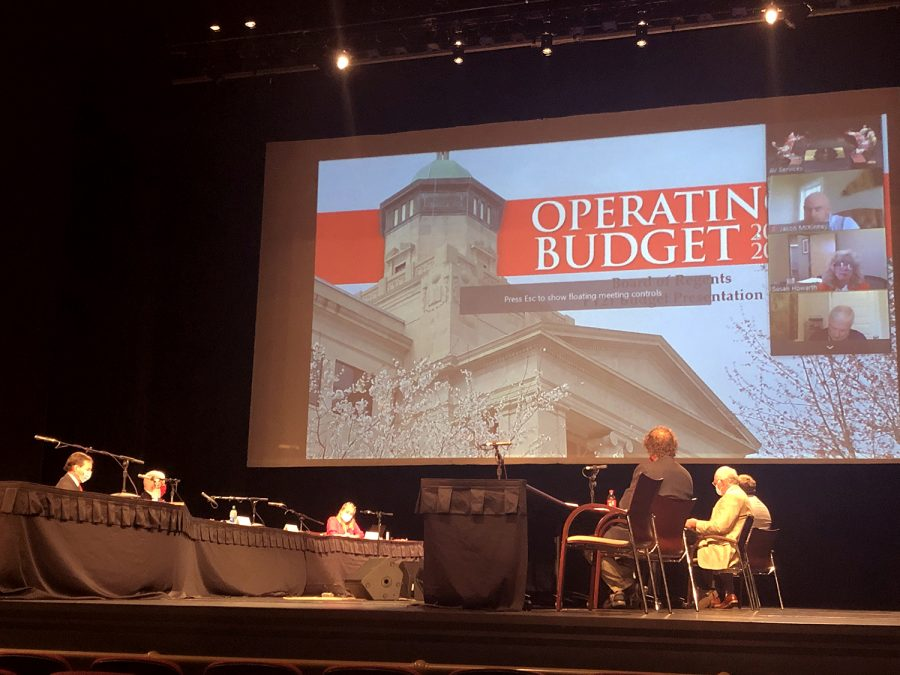 The WKU Board of Regents met in Van Meter Hall as well as on zoom in a special budget approval meeting.
