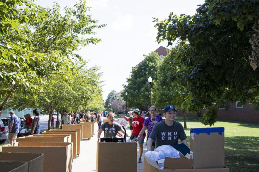 Students preparing to move into