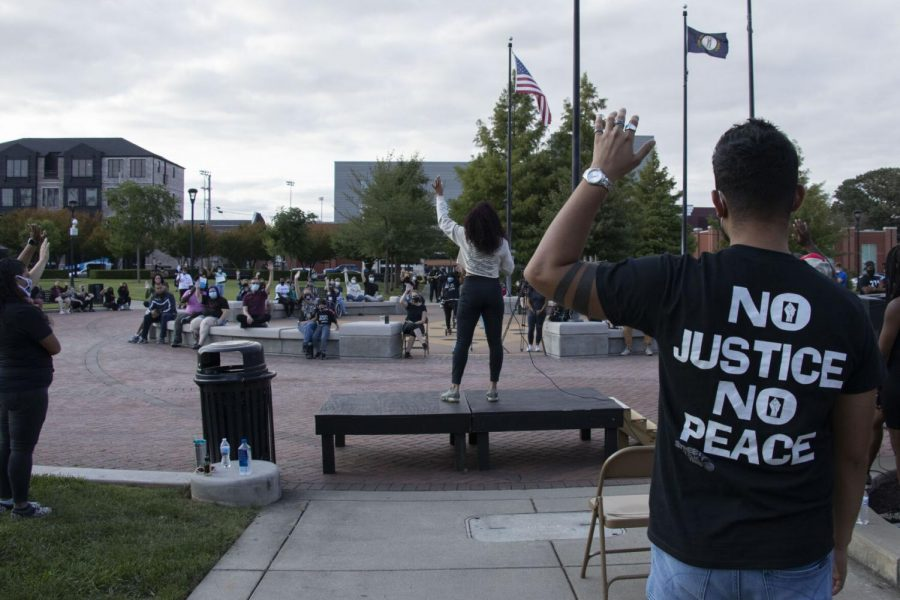 Speaker at the Justice for Breonna Taylor protest