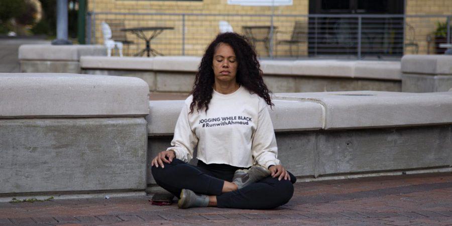 Dr. Lacretia 'Cre' Dye meditates