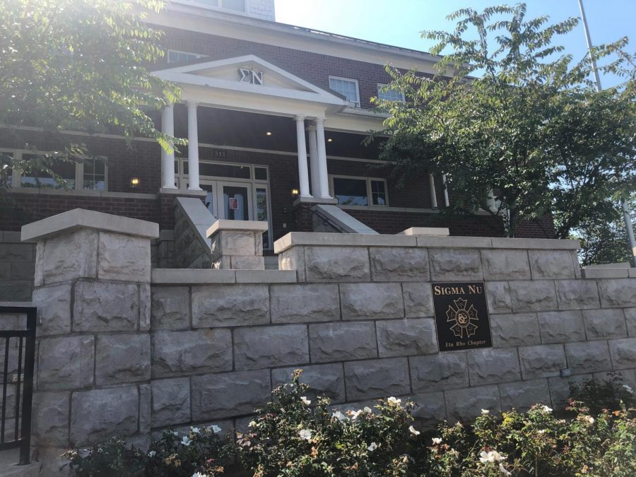 Sigma Nu's WKU chapter house sits on the edge of campus.
