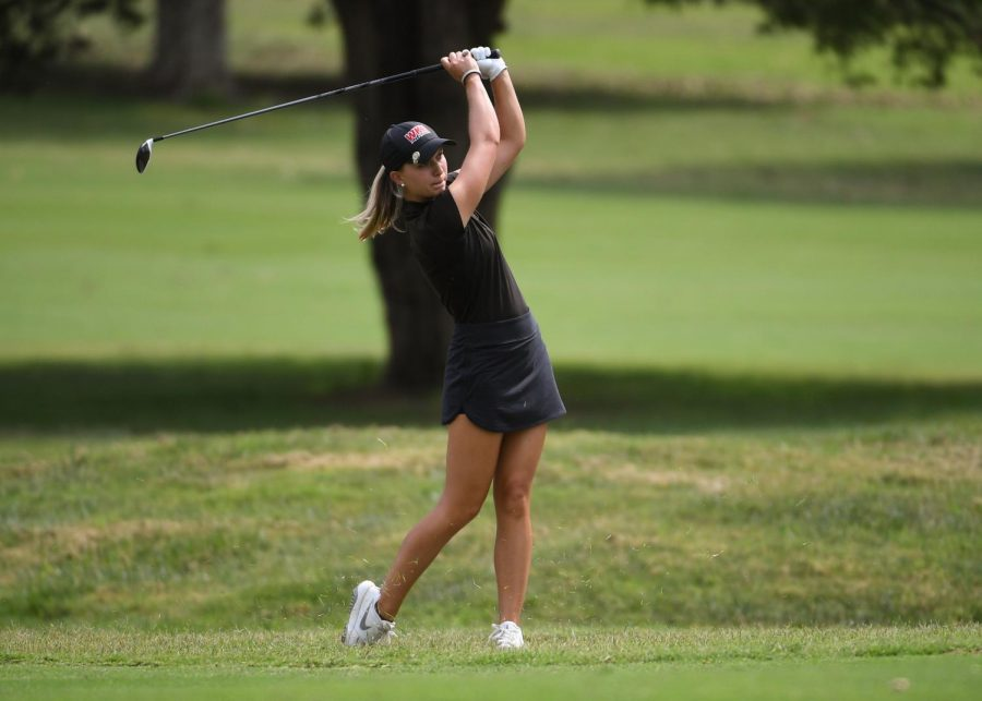 Graduate Mary Joiner on Aug. 8, 2019 as the Lady Toppers play a qualifying round at the Bowling Green Country Cub