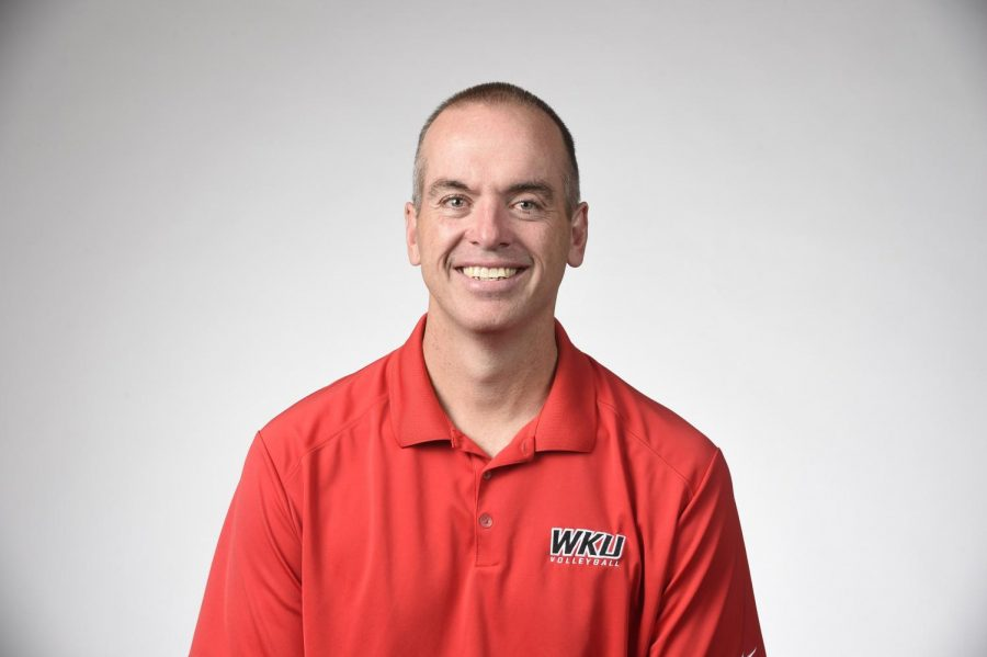 Head+Coach+Travis+Hudson+enters+season+No.+26+at+the+helm+of+the+WKU+Volleyball+Program+this+school+year.+He+has+a+record+of+642-215+with+the+program.%C2%A0