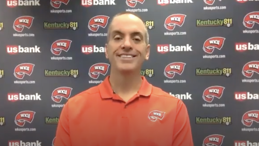 Volleyball Head Coach Travis Hudson addressed the media via Zoom conference prior to the first game of the 2020 season on Oct. 1, 2020.