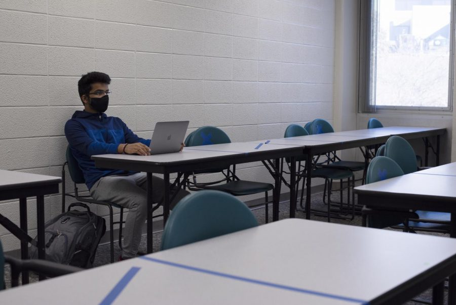 Social distancing has become the norm around WKU's campus, with lines, computer labs and classrooms being restructured to allow for space between people. Students in finance professor Mohsen Mollagholamali's classes have been seated six feet apart from each other all semester, as WKU and the United States continues the fight against COVID-19.