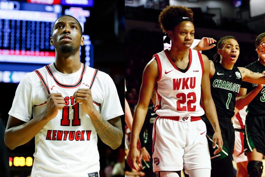 Taveion Hollingsworth (left) and Sherry Porter (right) during the 2019-20 season.