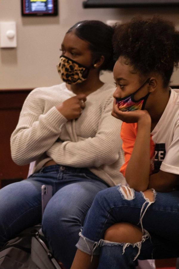 """Officers Donitka Boyett and Penny Bowles educated the young women of WKU at the Arrest the Fear series at the Downing Student Union on November 18th, 2020. """"Pretty much between cadets and internships, that's about where 50% of our recruits come from."""" said Bowles."""