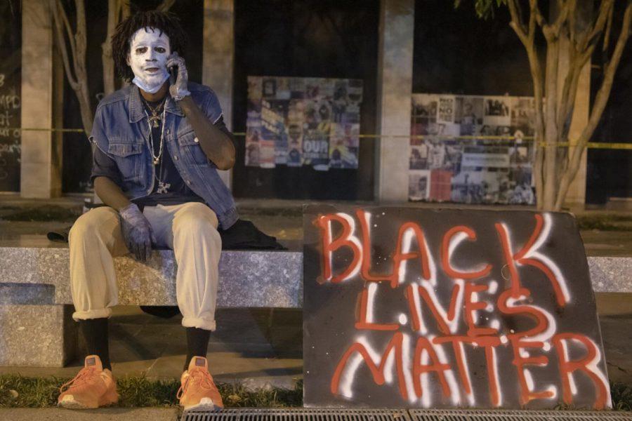 Noah Selph is attending protests at Black Lives Matter Plaza