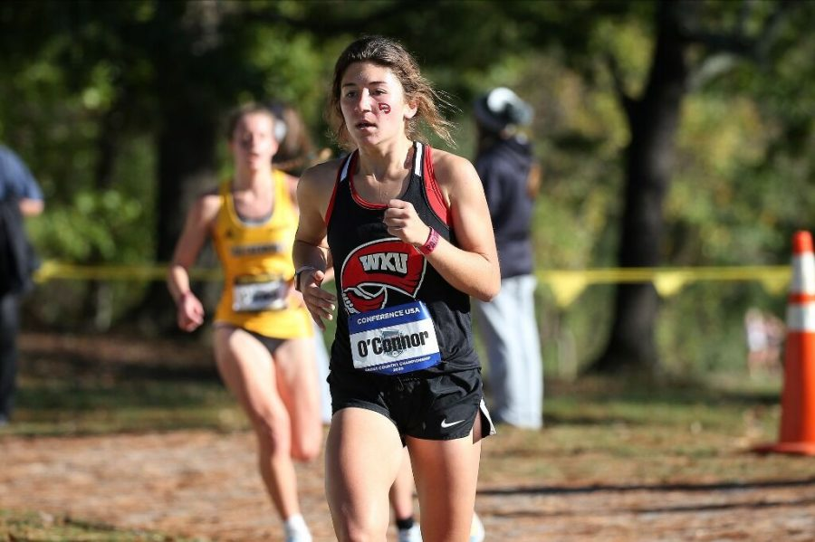Freshman Rory O'Connor running in the C-USA Championship on Oct. 31, 2020.