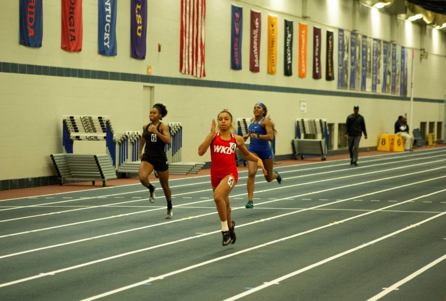 Alexis Williams running during the Jingle Bells Open at the University of Kentucky on Dec. 6, 2019.