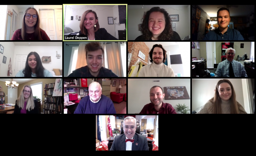 The+Herald+Editorial+Board+met+with+President+Tim+Caboni+and+Director+of+Media+Relations+Bob+Skipper+to+discuss+the+spring+2021+semester.