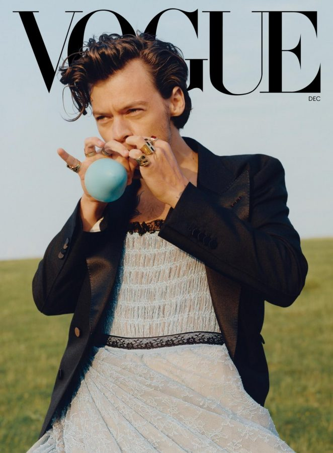 Styles on the cover of December's Vogue.Source