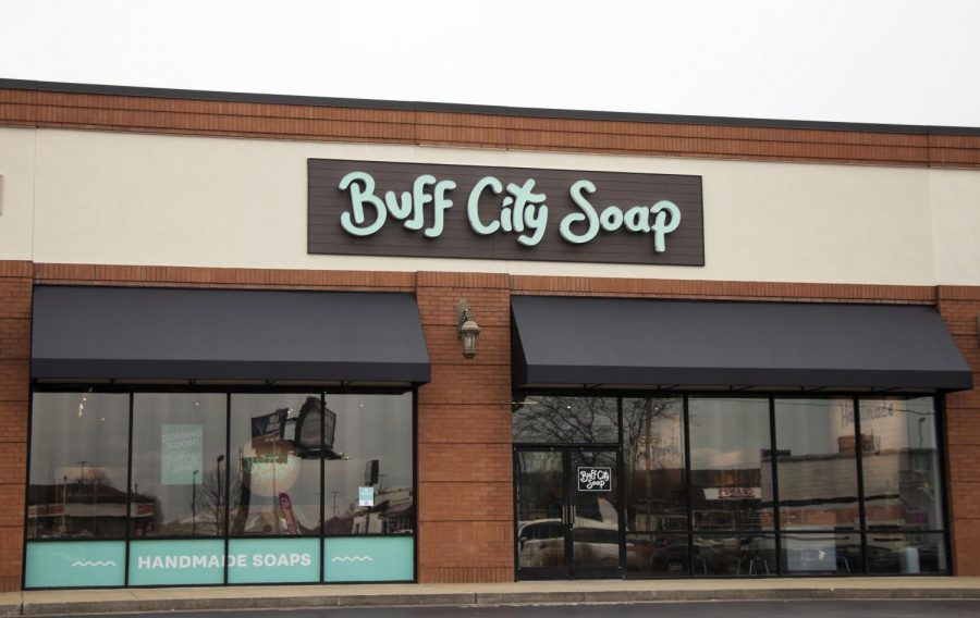 The storefront of Buff City Soap on Wednesday afternoon, Jan 27, 2021.