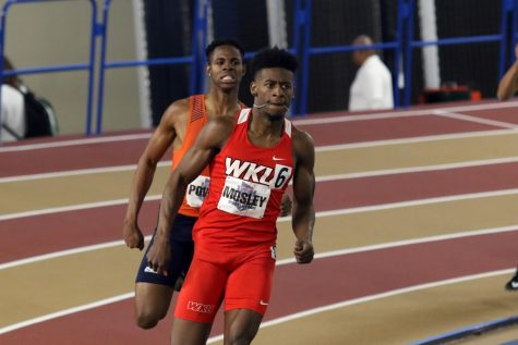 Senior Marlowe Mosley running in the 2020 Conference USA Indoor Track and Field Championships on Feb. 22, 2020 at the Birmingham Crossplex.