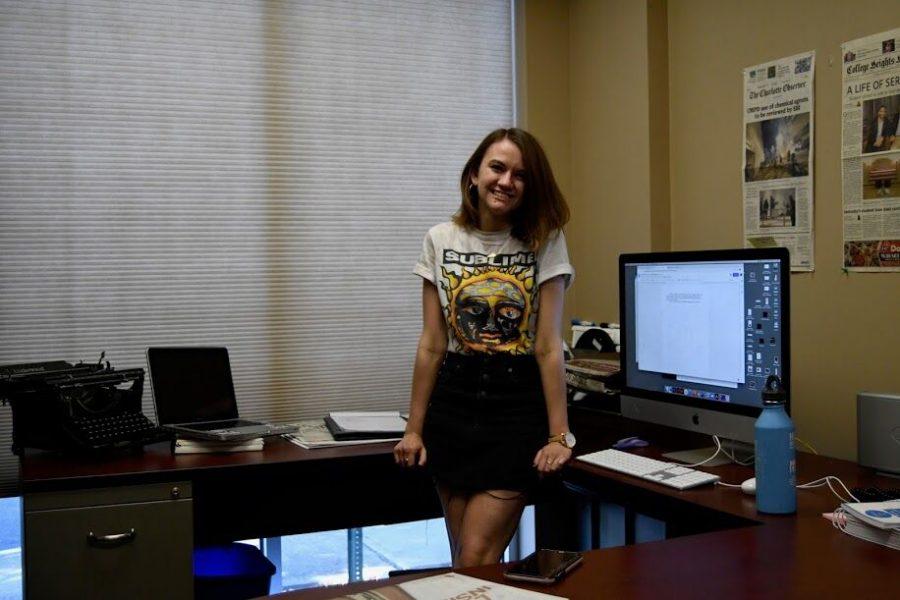 Herald Editor-In-Chief Laurel Deppen stands in her office in October 2020.